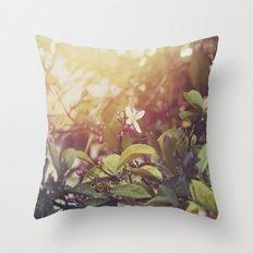 Lemon Flowers Throw Pillow