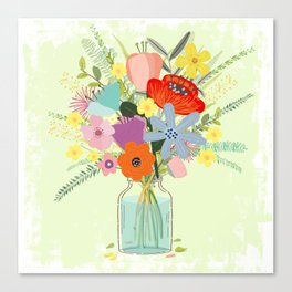 Bringing Summer Wildflowers Inside Canvas Print