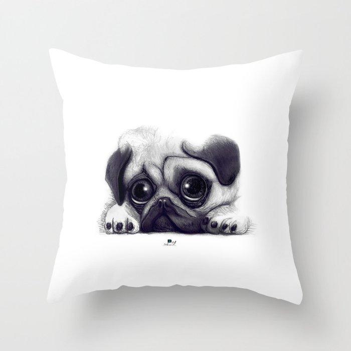 Pug Pug 02 Throw Pillow