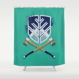 Crossed Axes NAU Shower Curtain