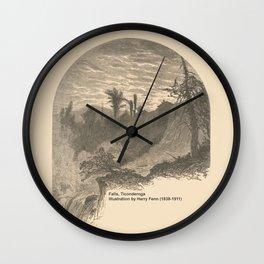 Vintage Adirondacks: Lower Falls, Ticonderoga Wall Clock
