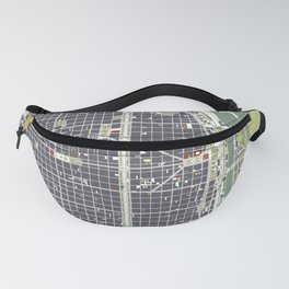 Buenos aires city map engraving Fanny Pack