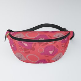 Ladies Red Fanny Pack