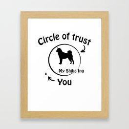 Circle of trust my Shiba Inu Framed Art Print