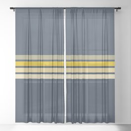 Racing Retro Stripes Sheer Curtain