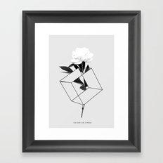 Seja Como Flor Framed Art Print