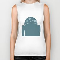 r2d2 Biker Tanks featuring R2D2 by olive hue designs
