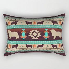 Boho dogs   Berner Sennenhund/Bernese mountain dog sunset Rectangular Pillow