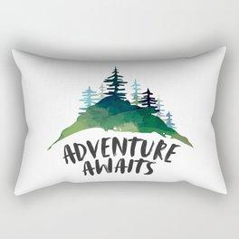 Adventure Awaits, Motivational Quote, Arrow Print, Gift Idea, Printable Art Rectangular Pillow