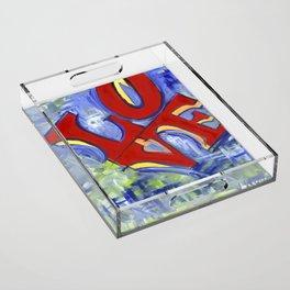 LOVE Acrylic Tray