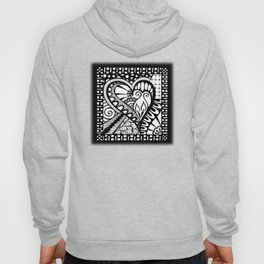 Abstract heart doodle Hoody