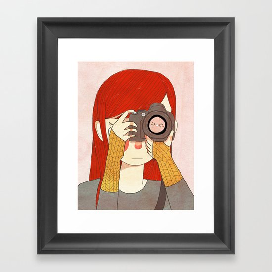Behind The Lens Framed Art Print