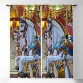 Vintage Carousel Horses Blackout Curtain