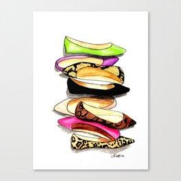 Fashion Flats Canvas Print
