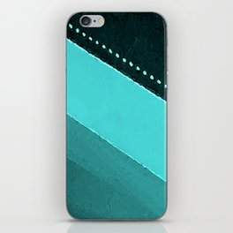 Blue and Black Stripes: Dotted Line iPhone Skin