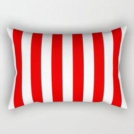Holidaze Stripe Red White Vertical Rectangular Pillow