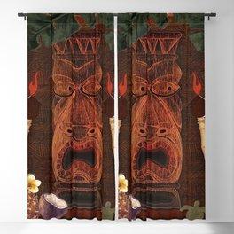 Forbidden Luau Tiki Party Blackout Curtain