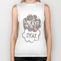 tfios Biker Tanks featuring OKAY?OKAY THE FAULT IN OUR STARS TFIOS HAZEL AUGUSTUS CLOUDS #2 by monalisacried