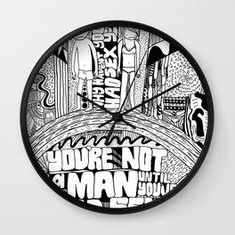 Not A Man Wall Clock