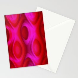 Abstract Red Roses Pattern, Original Design. Stationery Cards