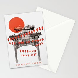 Chinatown Soho London Illustrated Art Print Stationery Cards