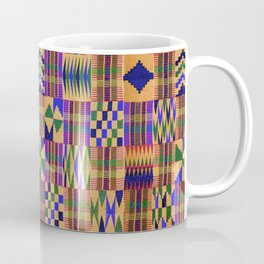 Kente Cloth // Anzac Yellow & Persian Blue Coffee Mug
