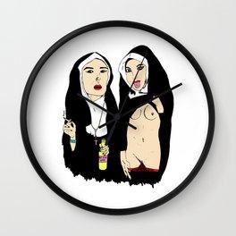 Fun Nuns Wall Clock