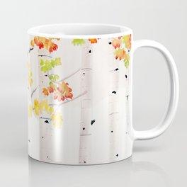 Autumn Birch Song Coffee Mug