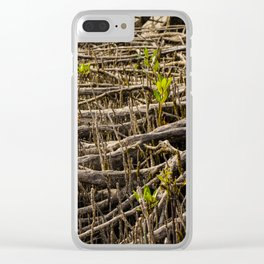 Mangrove Roots Clear iPhone Case