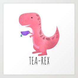 Tea-Rex   Pink Art Print