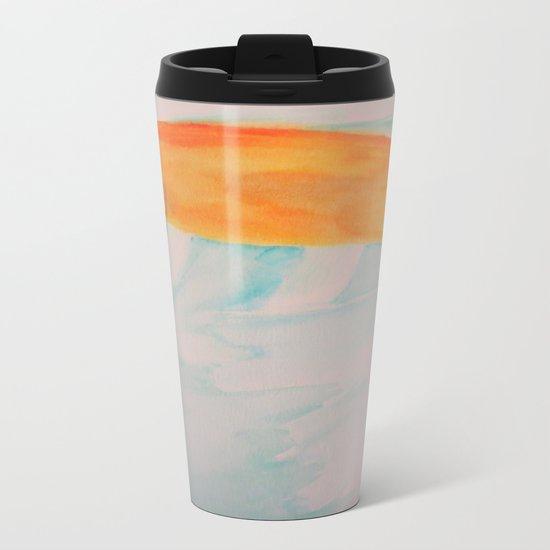 Watercolor Koi Metal Travel Mug