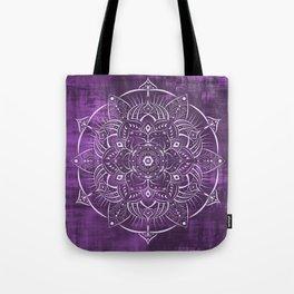 Purple Satin Mandala Tote Bag