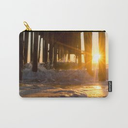 Sea Foam in the Sunlight Coastal Sunrise Landscape Photograph Carry-All Pouch