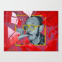 terry fan Canvas Prints featuring Terry by Dmitry  Buldakov