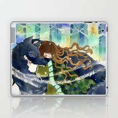 Warm friend and a cold day Laptop & iPad Skin