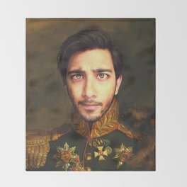 His Infernal Majesty Throw Blanket