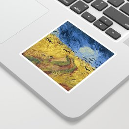 Wheatfield with Crows by Vincent van Gogh Sticker