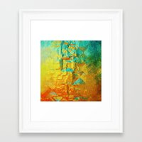 golden Framed Art Prints featuring Golden by SensualPatterns