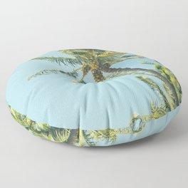 Kenolio Beach Hawaiian Coconut Palm Trees Kīhei Maui Hawaii Floor Pillow