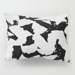 Black Bird Wings on Grey Pillow Sham