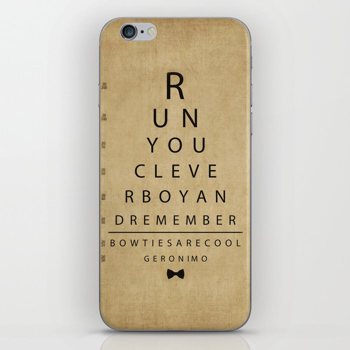 Run You Clever Boy Doctor Who Inspired Vintage Eye Chart Iphone