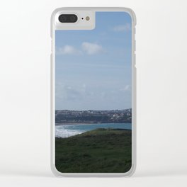 Cornwall Beach Photo 1799 Looking back at Newquay Clear iPhone Case