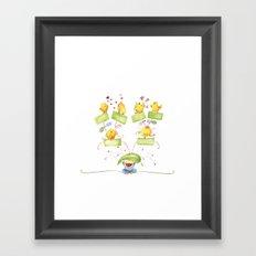 Baby family tree Framed Art Print