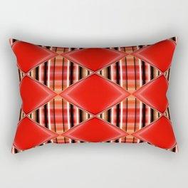 Pattern orangered 2 Rectangular Pillow