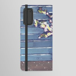 Blue Flowers in Vase Android Wallet Case