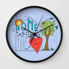 Home is Where the Heart Is Wall Clock