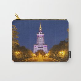 Palace of Culture and Science in Warsaw, Poland at night Carry-All Pouch