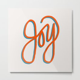 Fruit of the Spirit - Joy Hand Lettering Metal Print