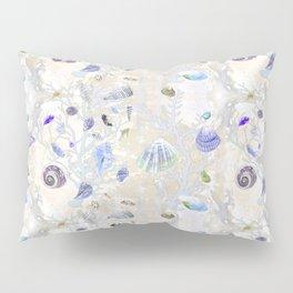 Shells - Yellow Purple Green - Casart Sea Life Treasures Collection Pillow Sham