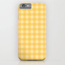 Gingham Pattern - Yellow iPhone Case